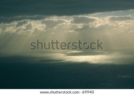 Floating above the ocean - stock photo