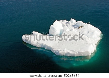Floating iceberg, Antarctica - stock photo