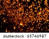 Floating Lanterns during Firework Festival in Thailand - stock photo