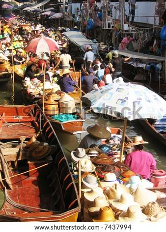 Floating Market, Bangkok - stock photo