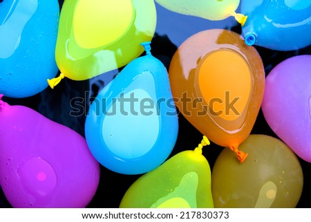 Floating Water Bombs - stock photo
