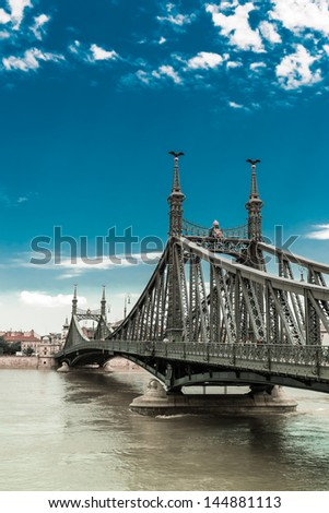 flood in Budapest - stock photo