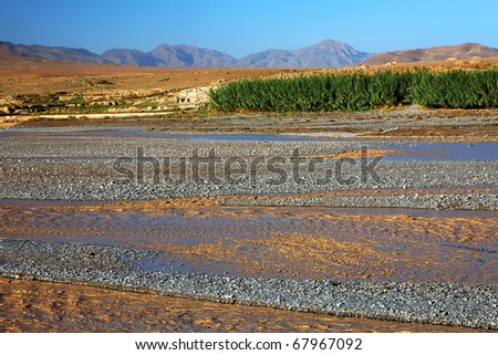 Flood in Middle Atlas Mountains, Africa - stock photo