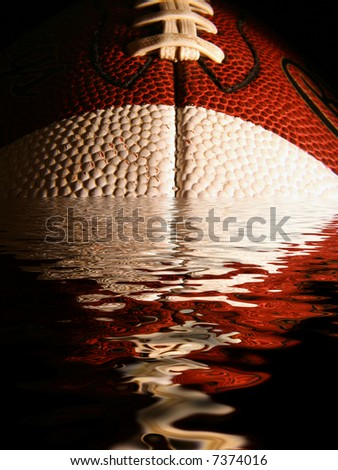 Flooded Football - stock photo