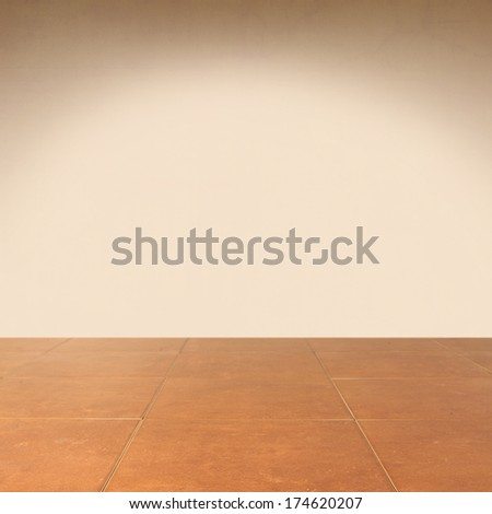 floor and wall of brown color  - stock photo