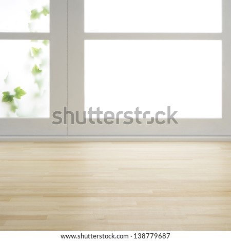 Floor and window - stock photo