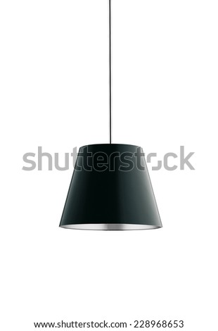 floor lamp isolated - stock photo
