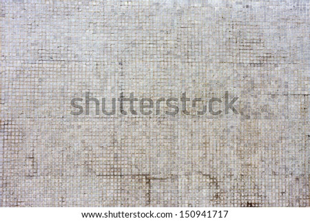 Floor or wall aged mosaic tiles. - stock photo