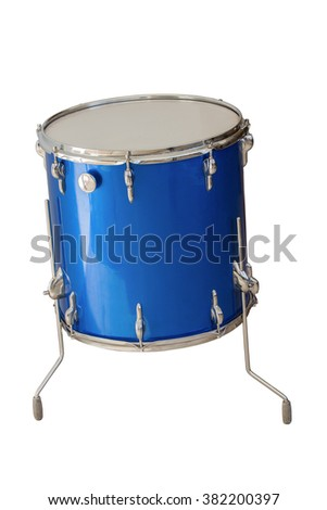 floor Tom-Tom drum blue color isolated on white background - stock photo