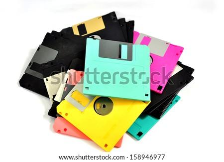 Floppy disk for various design - stock photo