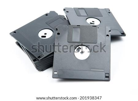 Floppy Disk isolated on white background. - stock photo