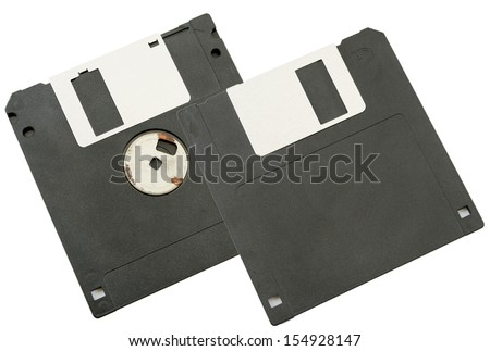 Floppy disk magnetic computer data storage - stock photo
