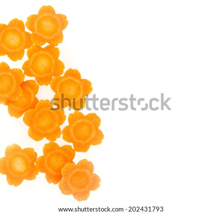 Flora shape carrot vegetable isolated on white background - stock photo