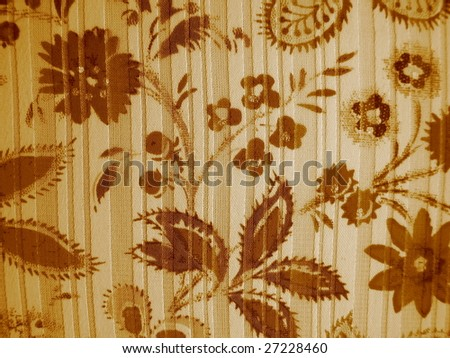 Floral Background in Sepia - stock photo