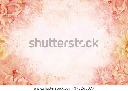Floral background. Retro grunge effect. - stock photo