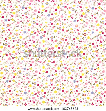 floral background to place your text or design. - stock photo