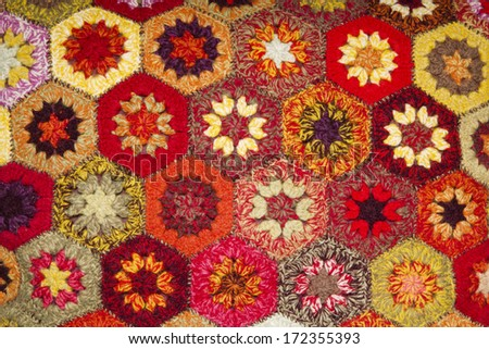 Floral colorful tapestry - stock photo