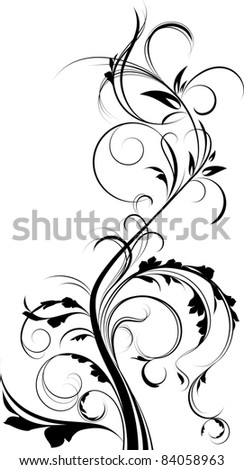 Floral element. - stock photo