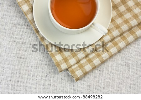 floral fruity tea on the table - stock photo