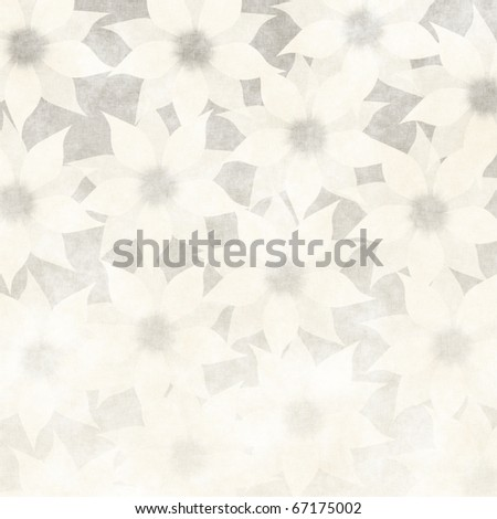 floral grunge illustration on old parchment .old paper with floral pattern . useful design element for example, for wedding invitations - stock photo