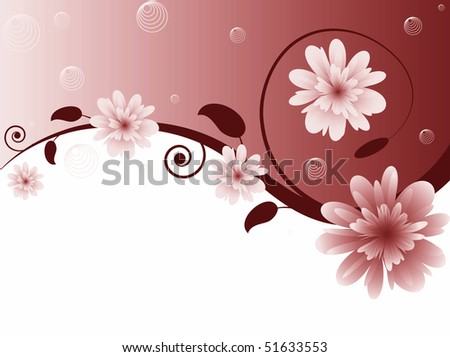 Floral pattern background - stock photo