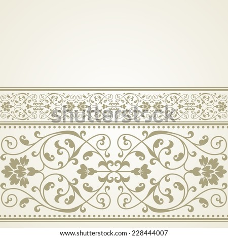 Floral pattern for invitation or greeting card.Raster version.  - stock photo
