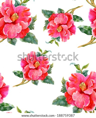 Floral pattern on a white background - stock photo