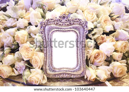 floral picture frame,Fancy Picture Frame - stock photo