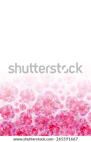 floral pink background - stock photo