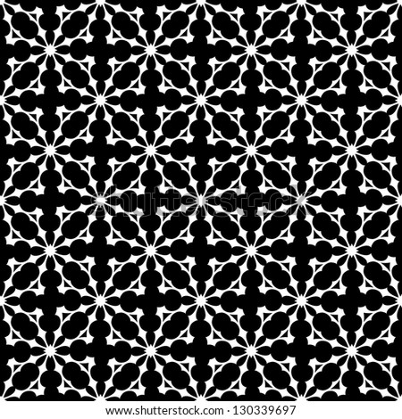 Floral seamless ornamental pattern. Vector background. - stock photo