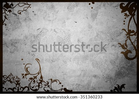 floral style textures and backgrounds frame with space - stock photo