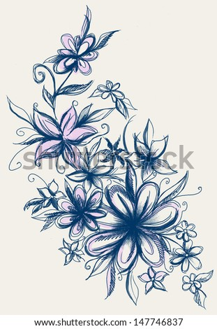 Floral Vines - stock photo
