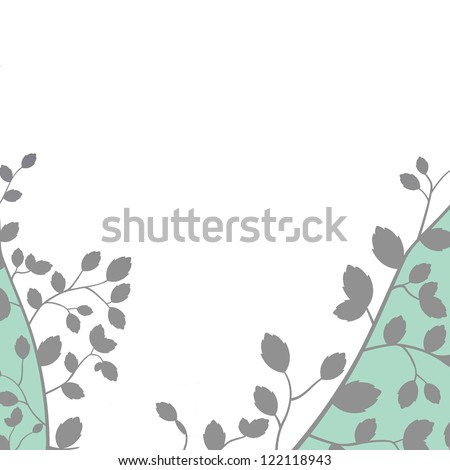 floral wedding or party invitation template - stock photo