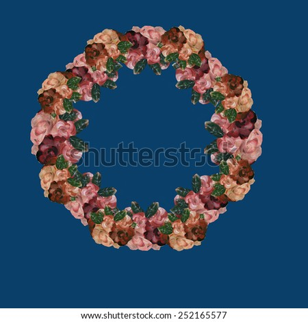 Floral wreath - stock photo
