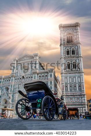 Florence Cathedral (Duomo - Basilica di Santa Maria del Fiore) Florence, italy - stock photo