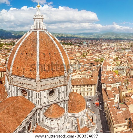 Florence, Cathedral Santa Maria Del Fiore (Basilica of Saint Mary of the Flower) (Tuscany, Italy) - stock photo