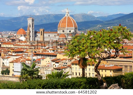 Florence cathedral,Tuscany, Italy - stock photo