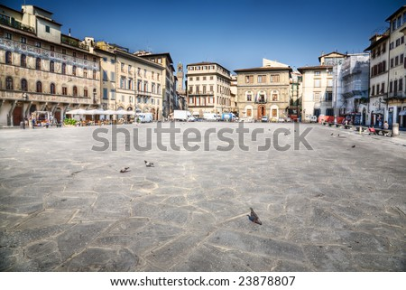Florence city in Italy. HDR image. - stock photo