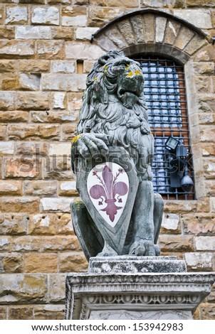 Florence Lion - stock photo