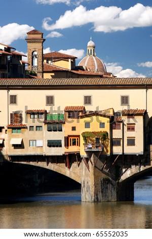 Florence, Ponte Vecchio, Italy - stock photo