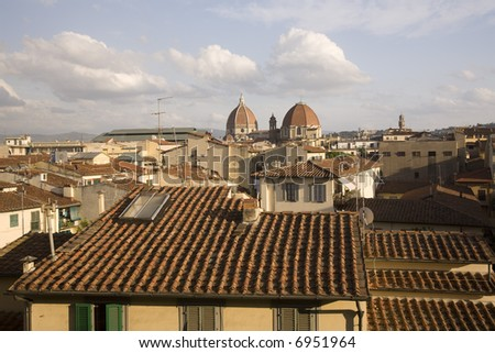 Florence Rooftops - stock photo