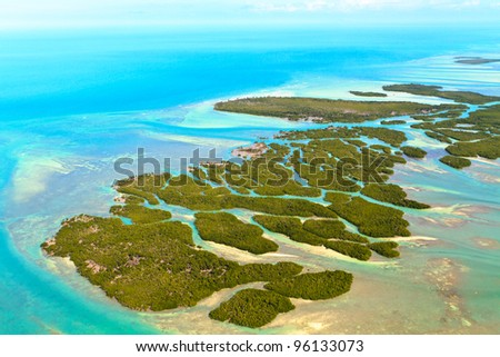 Florida Keys Aerial View - stock photo