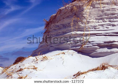 Florida Paradise - wind shaped dune (exclusive at shutterstock) - stock photo