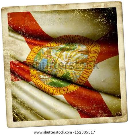 Florida (USA) grunge sticker - stock photo