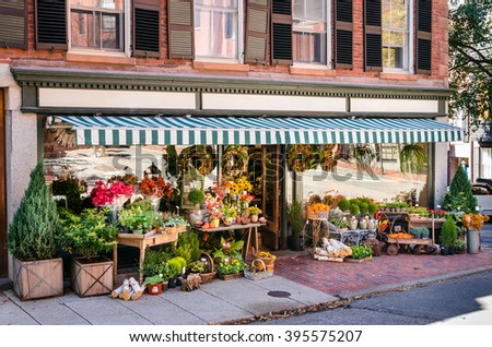 Florist shop - stock photo