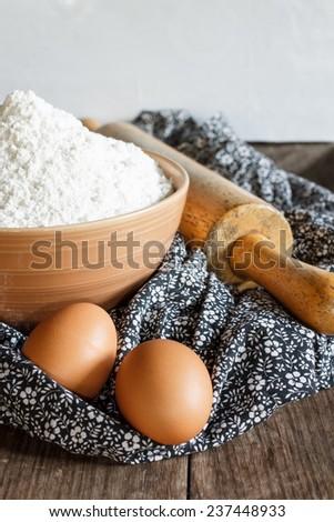 flour for bake - stock photo