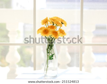 Flower arrangement for decorated room with vintage filter style - stock photo