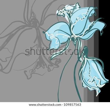 Flower background for design - stock photo