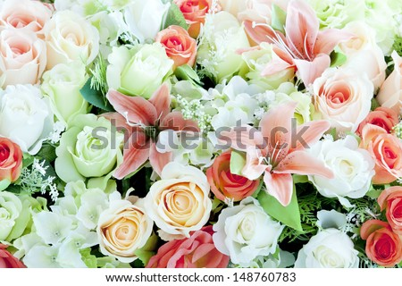 flower bouquet background - stock photo