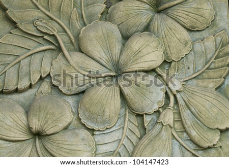 Flower carving decorated - stock photo